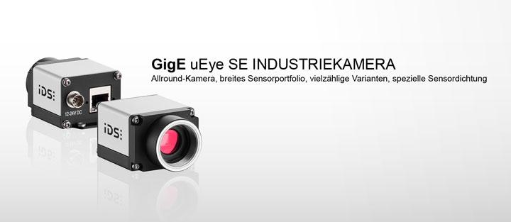 ---IDS GigE uEye SE Industriekamera, Ethernet mit 60 MB Bildspeicher