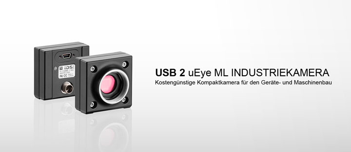 ---IDS Industriekamera USB 2 uEye ML in Mono, Color und NIR Version, mit CMOS Sensoren