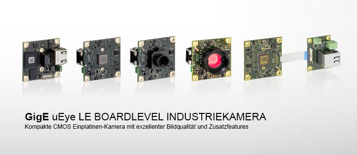 ---IDS GigE uEye LE Industriekamera, kompakte Einplatinen CMOS Kamera als Boardlevel Version