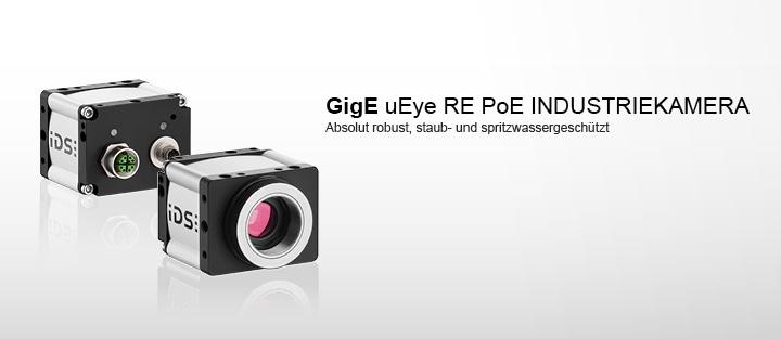 ---Robuste Gigabit Ethernet Kamera von IDS, Schutzklassen IP 65  und IP 67, Power over Ethernet (PoE)