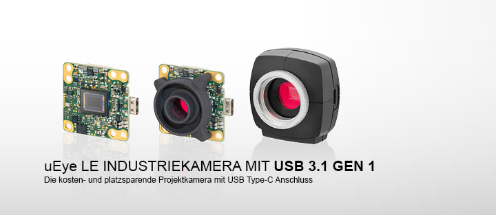 ---uEye LE USB 3.1 Gen 1 - USB 3.1 Gen 1 Kameras mit Type-C Stecker