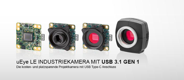 ---uEye LE USB 3.1 Gen 1 - USB 3.1 Gen 1 Kameras mit Type-C Stecker und USB Power Delivery