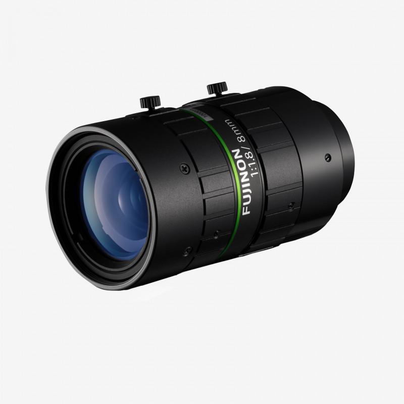 """Lens, Fujifilm, HF818-12M, 8 mm , 2/3"""" C-Mount. 2/3"""". 8 mm. Fujifilm. AE00185"""