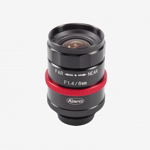 "Lens, Kowa, LM8JCM-WP, 8 mm, 2/3"""